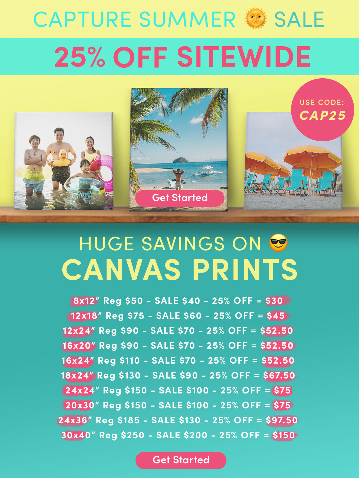 Posterjack Capture Summer Sale Canvas Prints Markdown