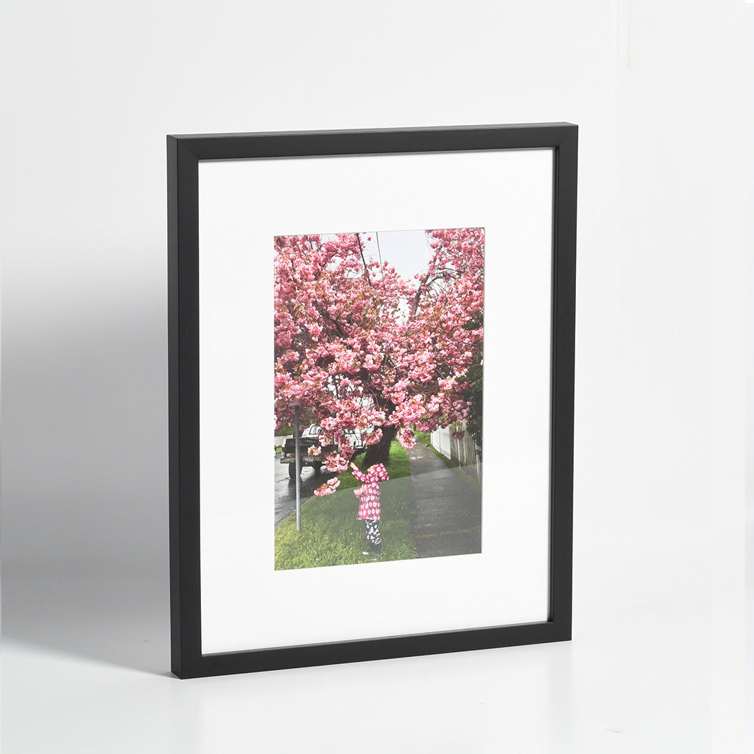 Posterjack Framed Print - Photo of a Little Girl with a Cherry Tree in Victoria, BC