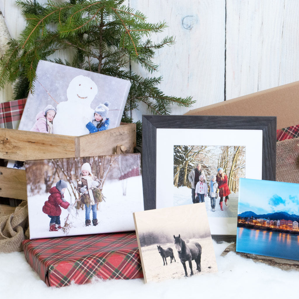 A collection of holiday photos printed by Posterjack