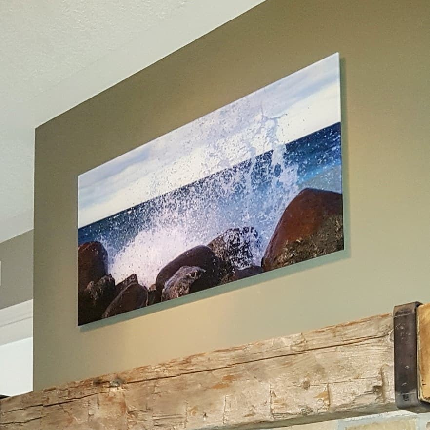 Horizontal Landscape Photo of Crashing Waves Printed by Posterjack