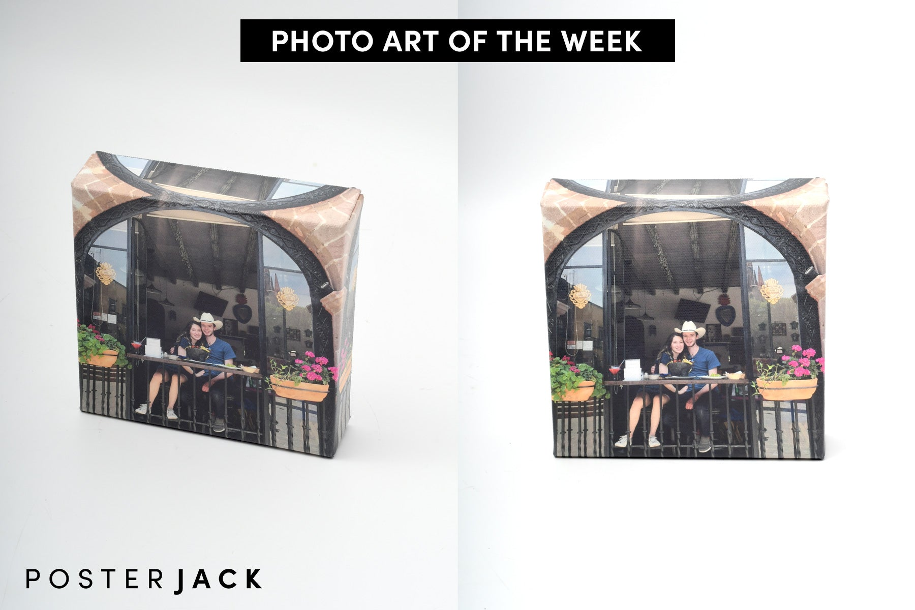 Photo Art of the Week Picture of Couple in Love Printed on a Canvas Mini by Posterjack
