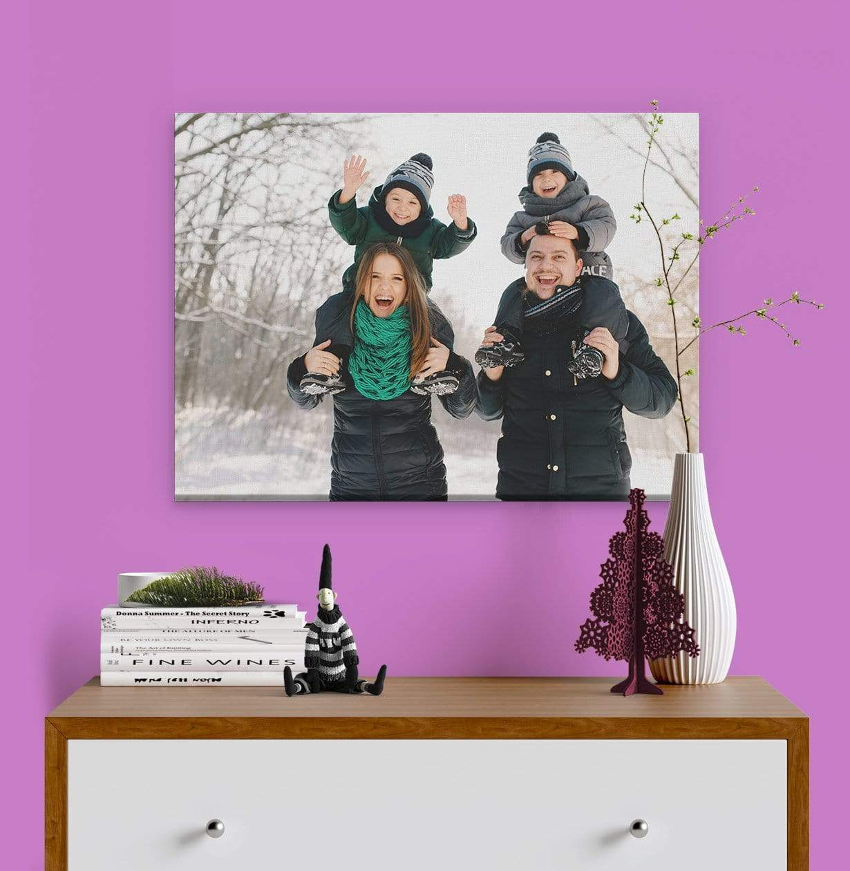 Outdoor Family Photo Printed on Canvas by Posterjack Canada