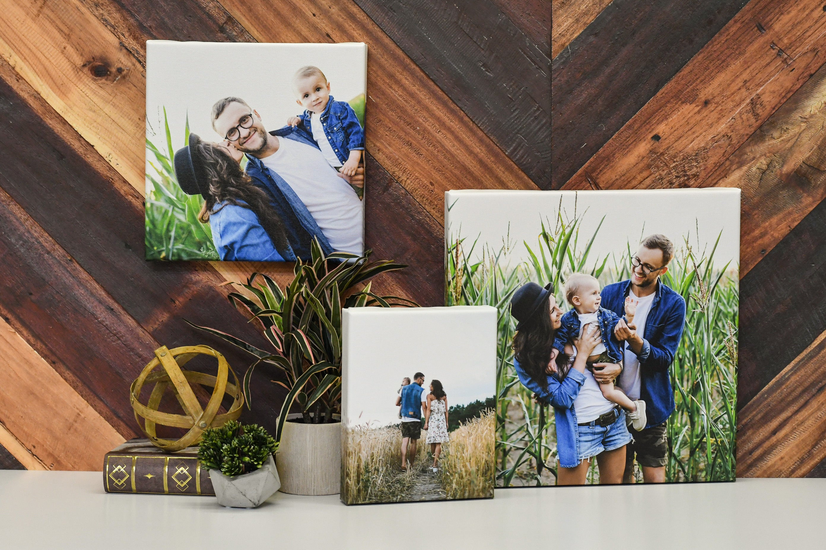 Collection of Family Photos Printed on Canvas by Posterjack Canada