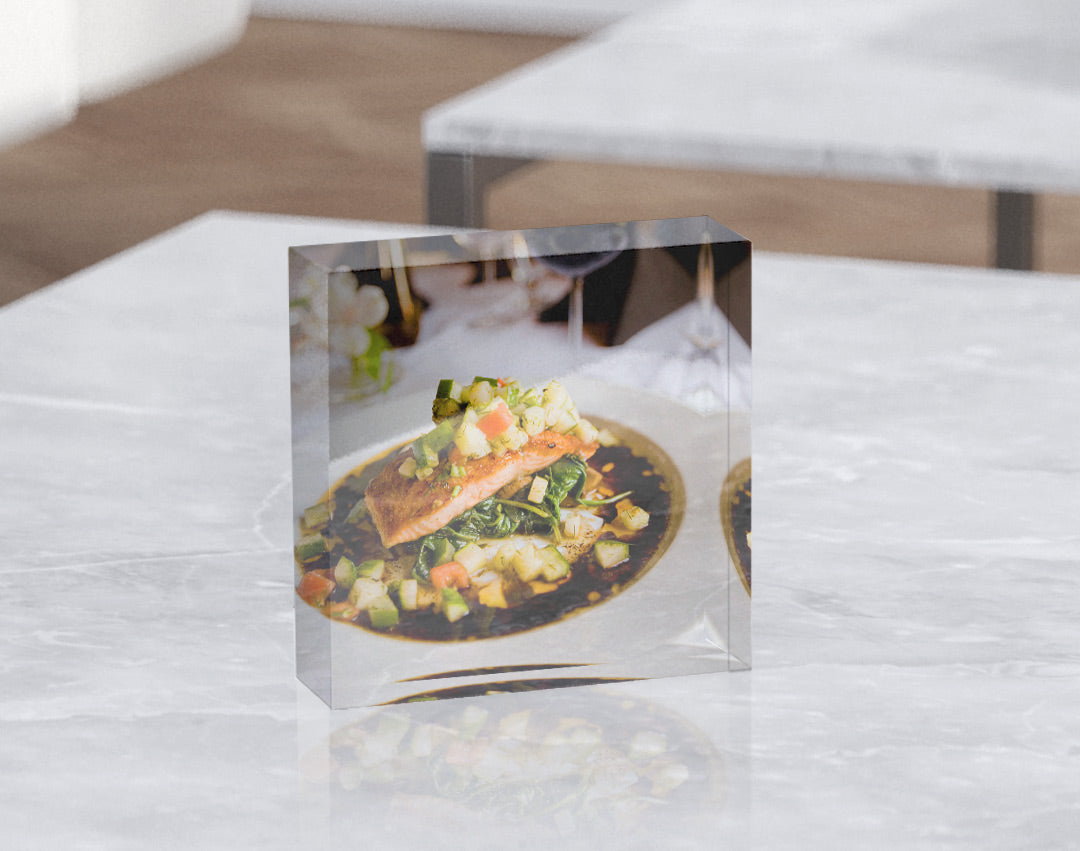 Food Photo Art Printed on Posterjack Acrylic Block