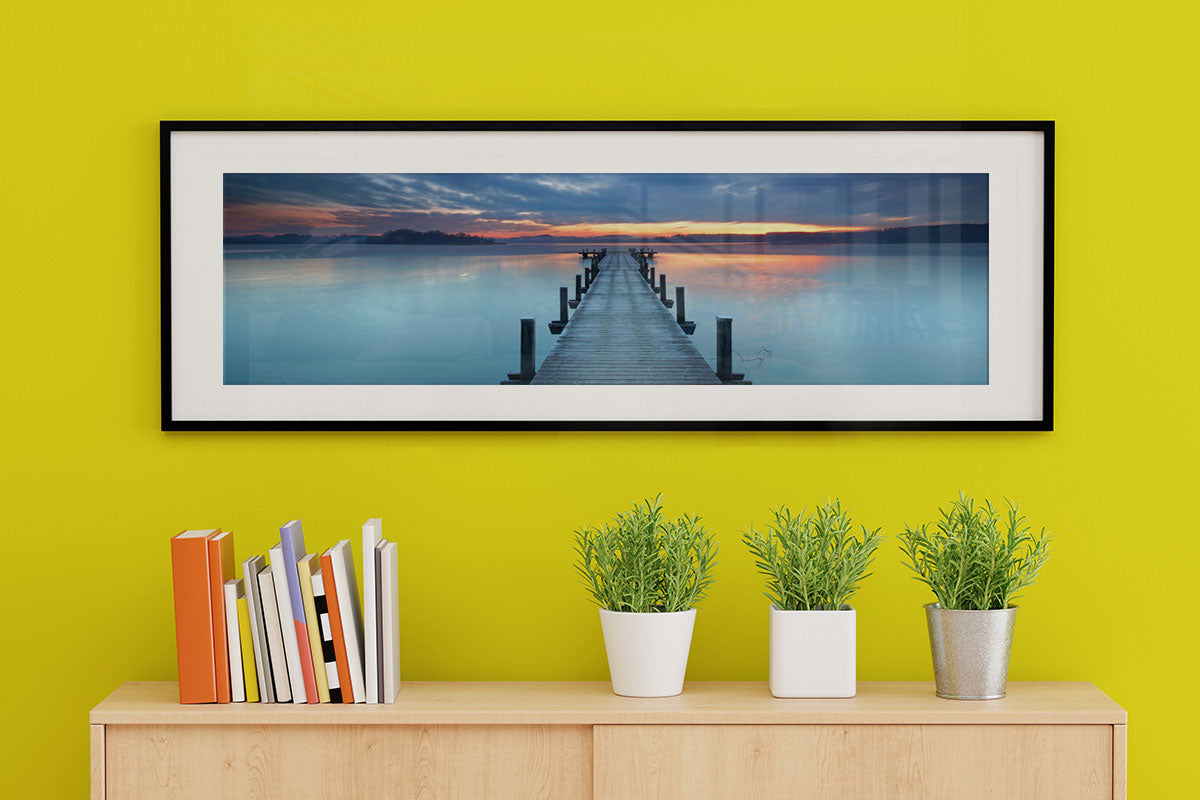 A framed panoramic photo printed at Posterjack