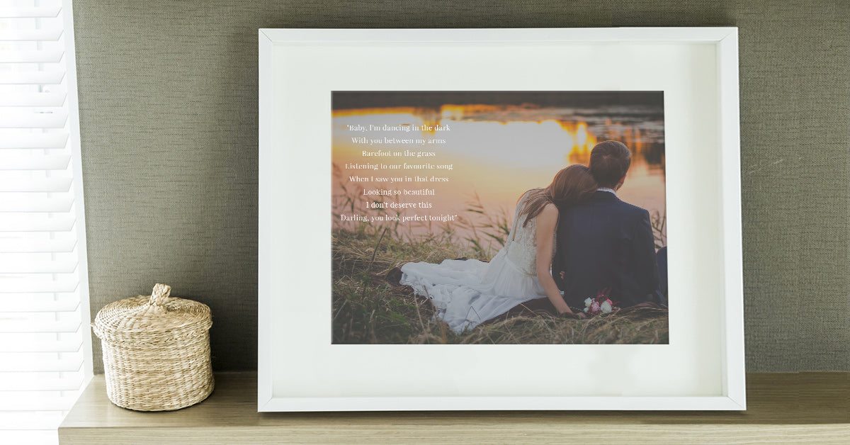 Framed Song Lyrics and Photo