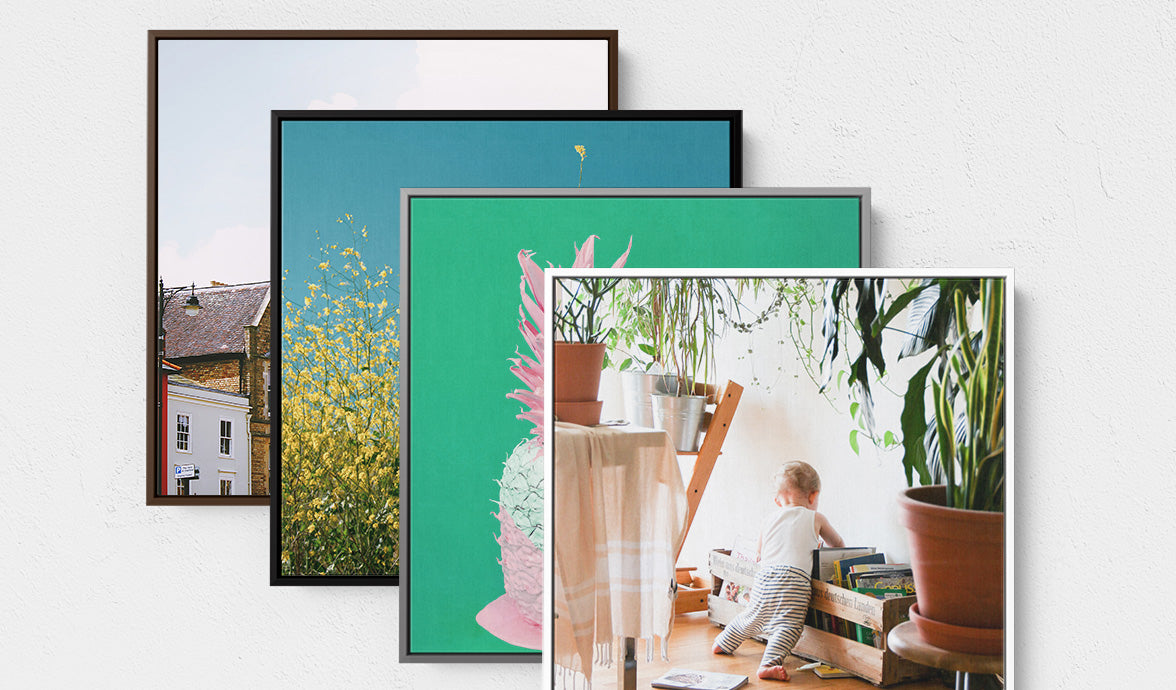 Gallery Box Floater Frame Colour Options