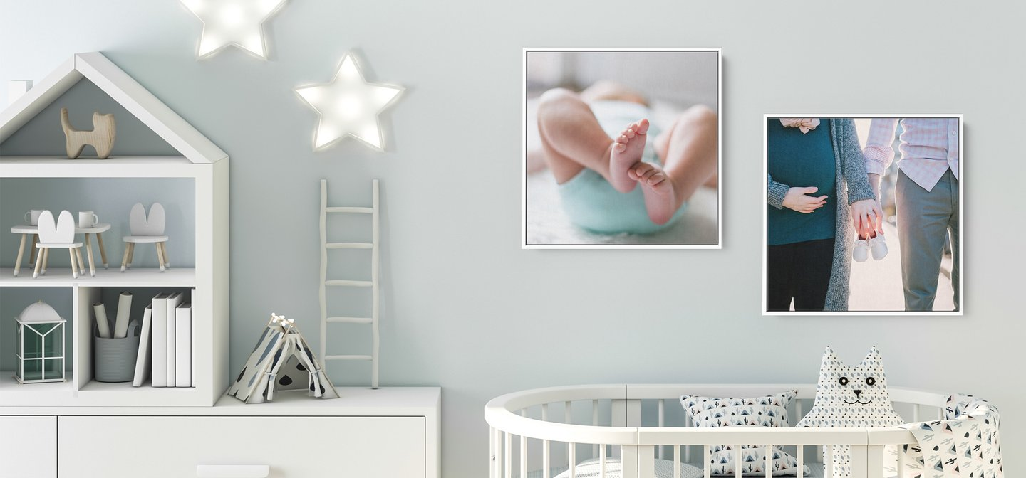 Gallery Boxes with White Frames