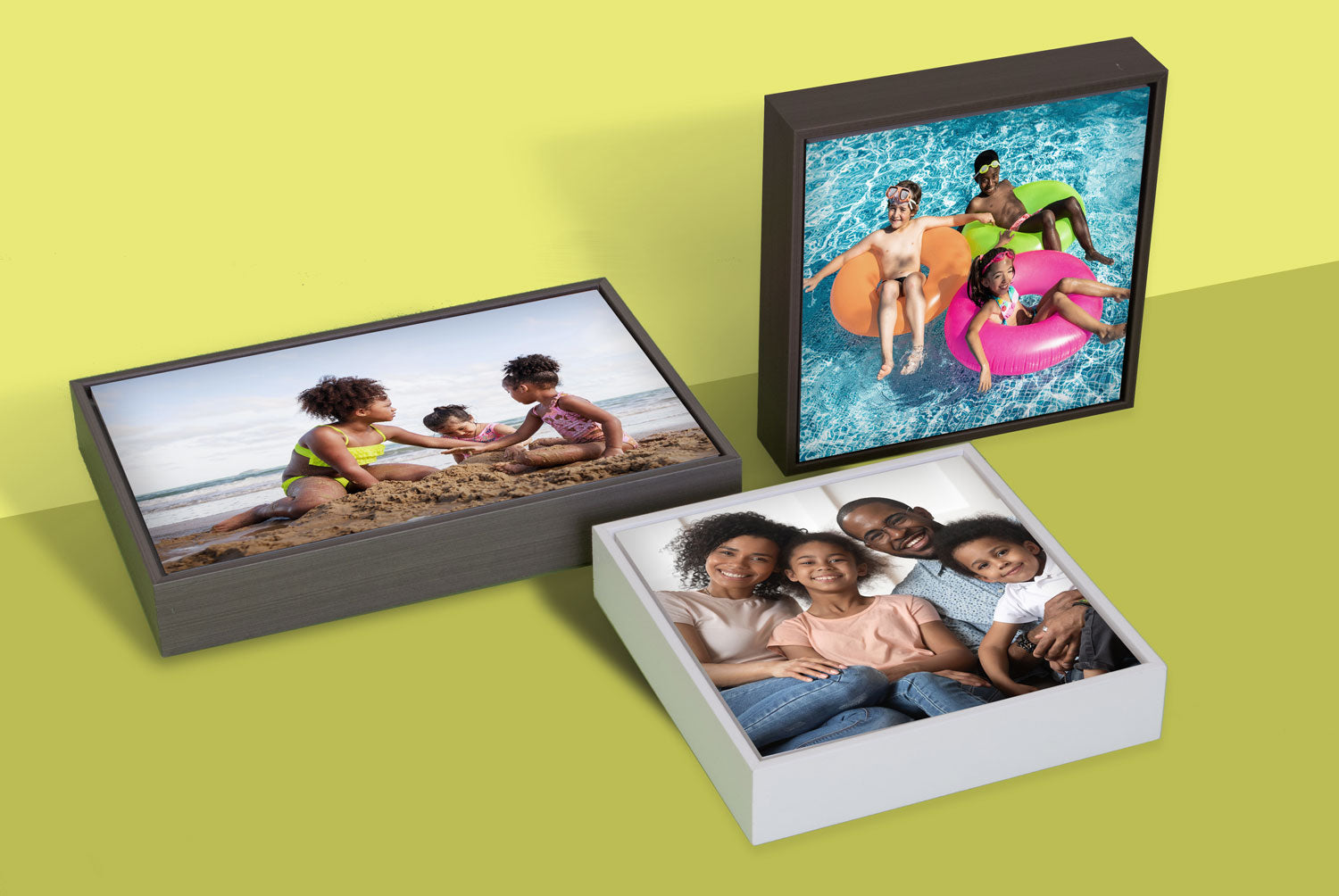 Examples of Floating Frames - Gallery Boxes by Posterjack Canada