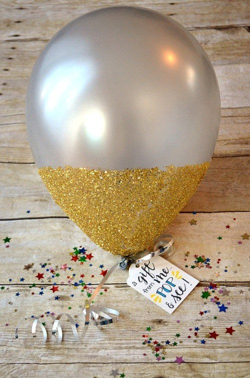 Balloon Decorated with Gift Certificate Inside