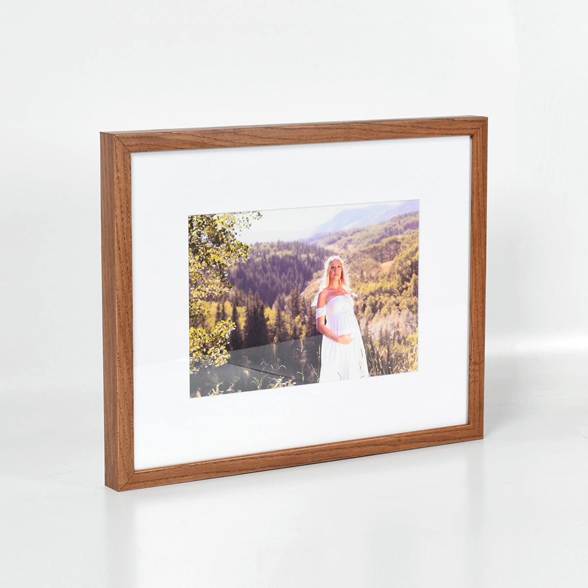 Maternity Photo in Light Walnut Gallery Frame - Printed by Posterjack Canada