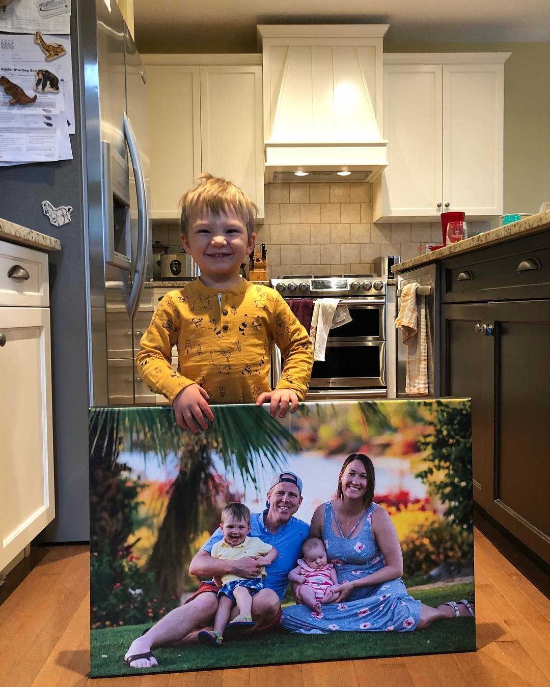 Free Prints Friday May Winner - A Happy Boy and His Posterjack Canvas Print