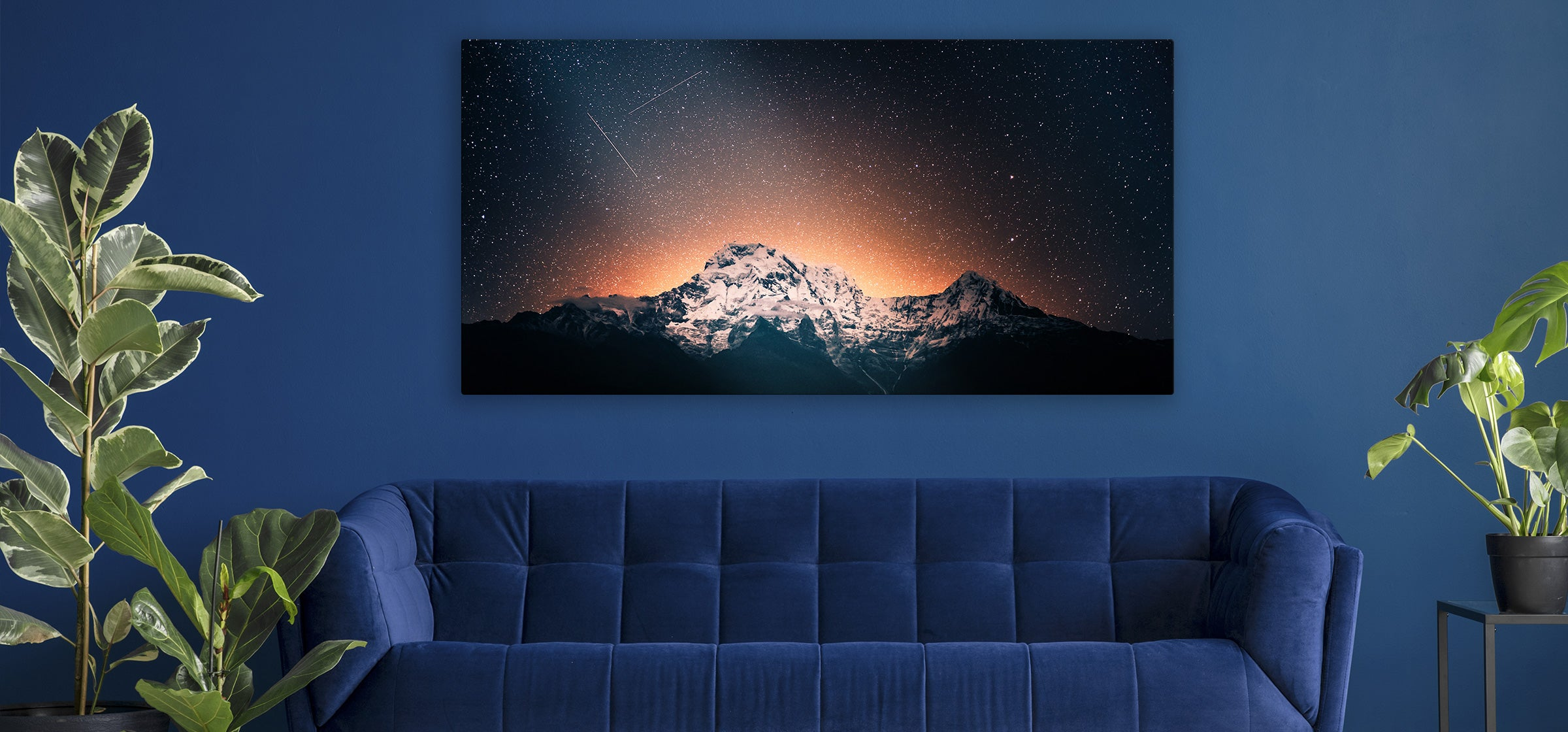 Night Photo Printed on Metal by Posterjack Canada