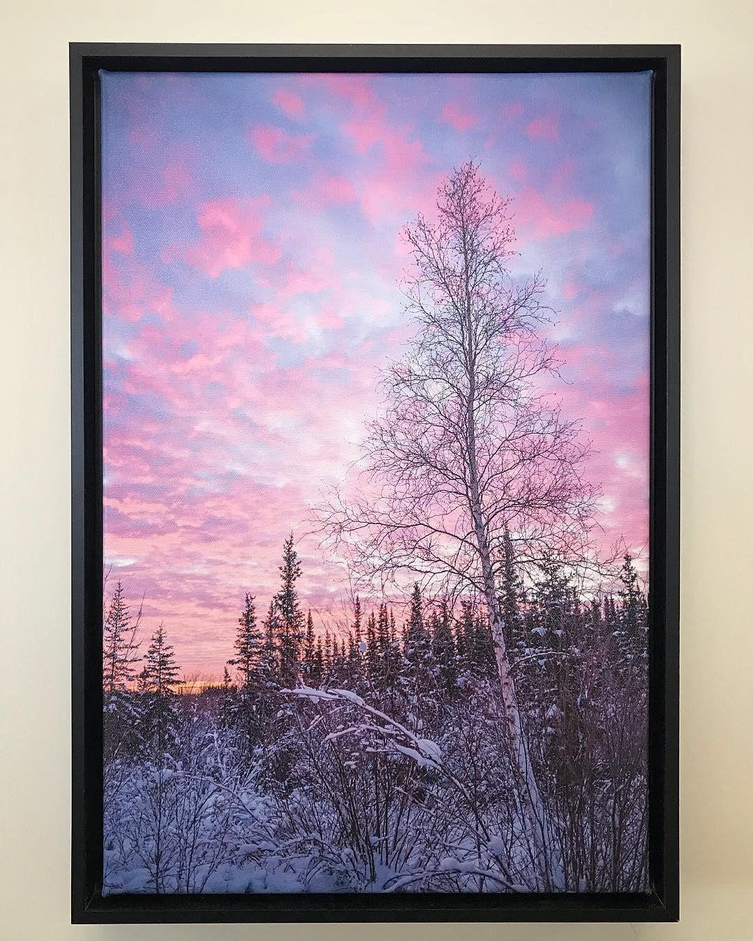 Northwest Territories Sunrise Printed on Canvas by Posterjack