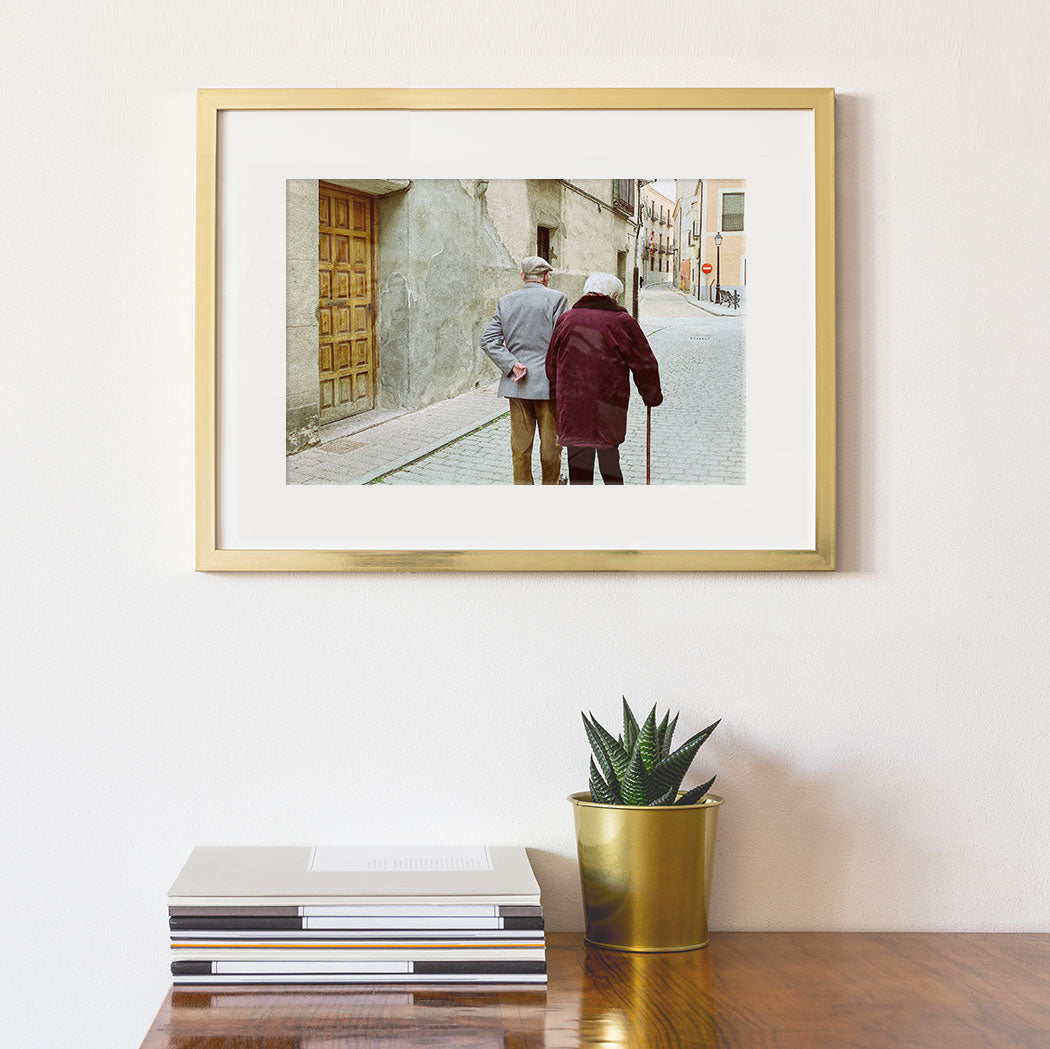 Old Photo Turned into a Custom Framed Print by Posterjack Canada