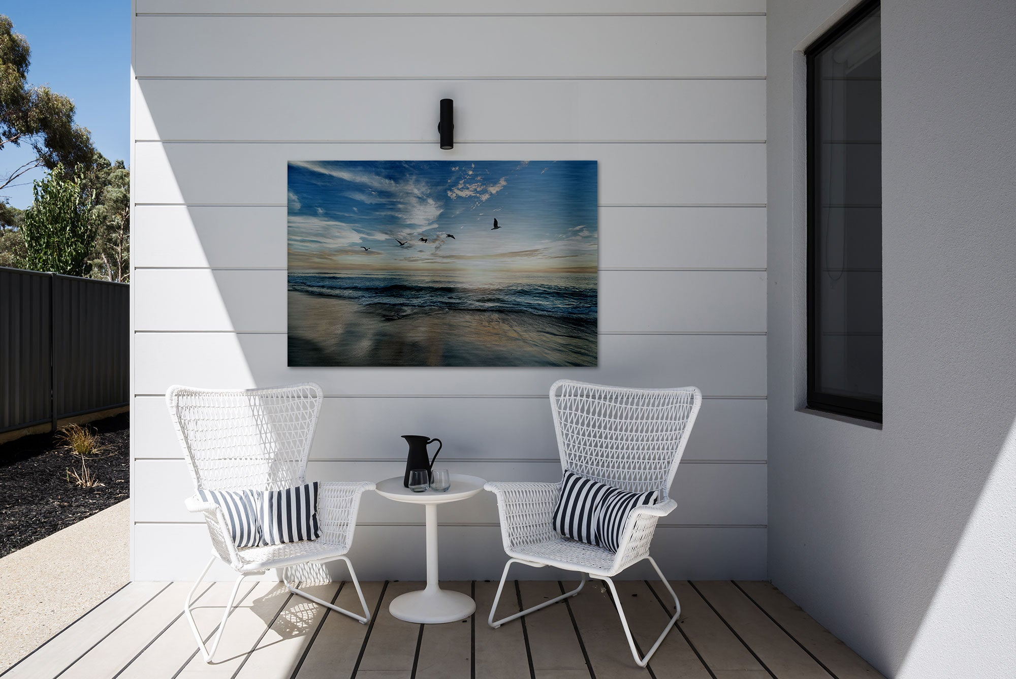 Outdoor Metal Wall Decor - Photo Printed on Brushed Aluminum