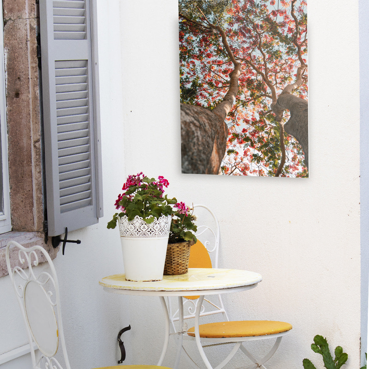 Outdoor Patio Decor Featuring a Photoboard by Posterjack Canada