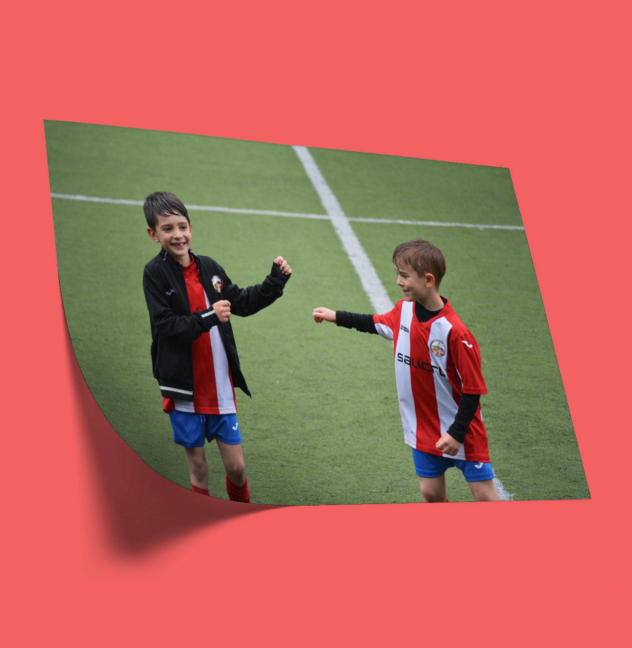 Photo of Kids Playing Soccer Printed on a Posterjack Peel & Stick Wall Decal