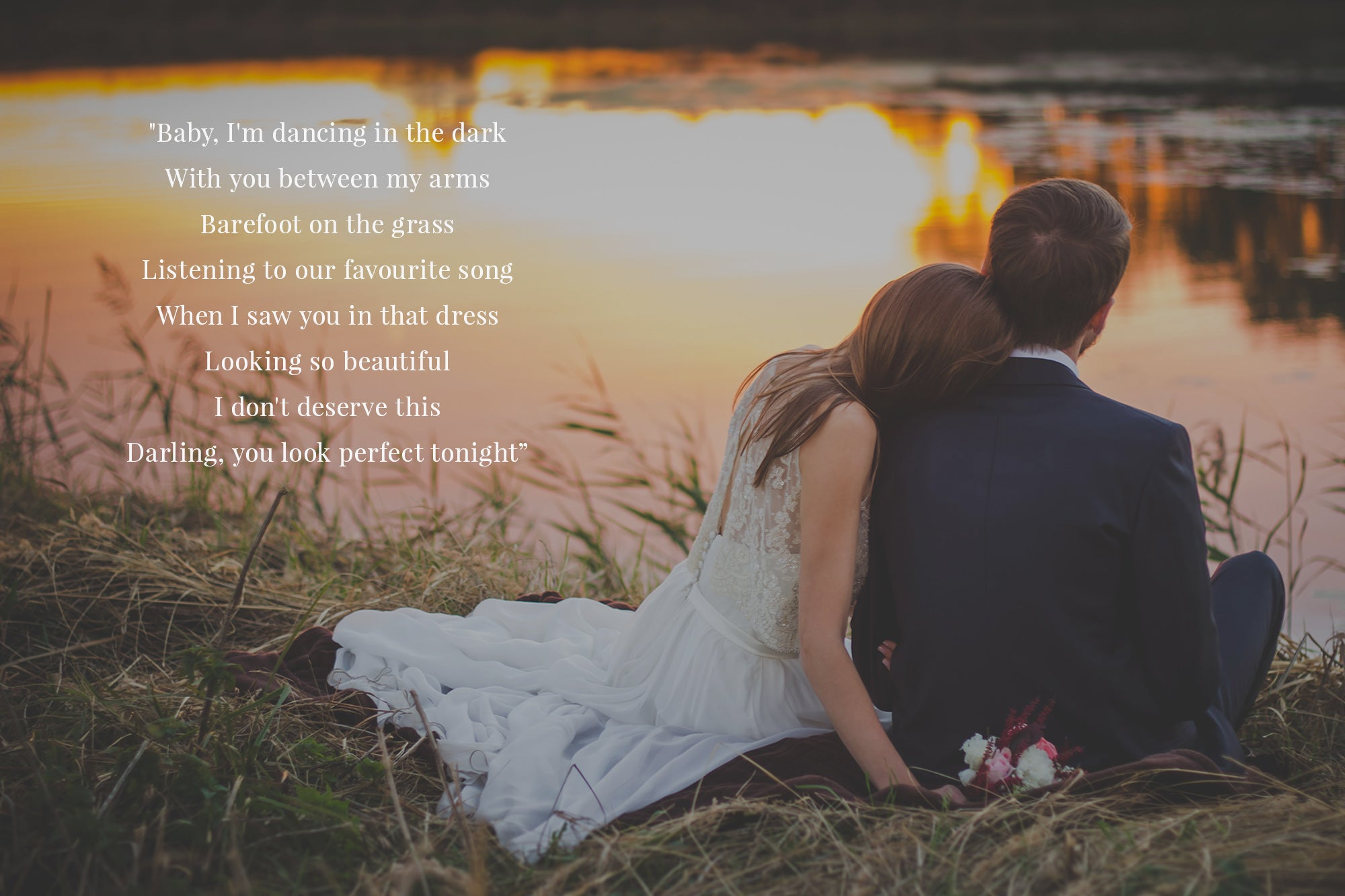 """Perfect"" Song Lyrics and Wedding Photo DIY Second Attempt"