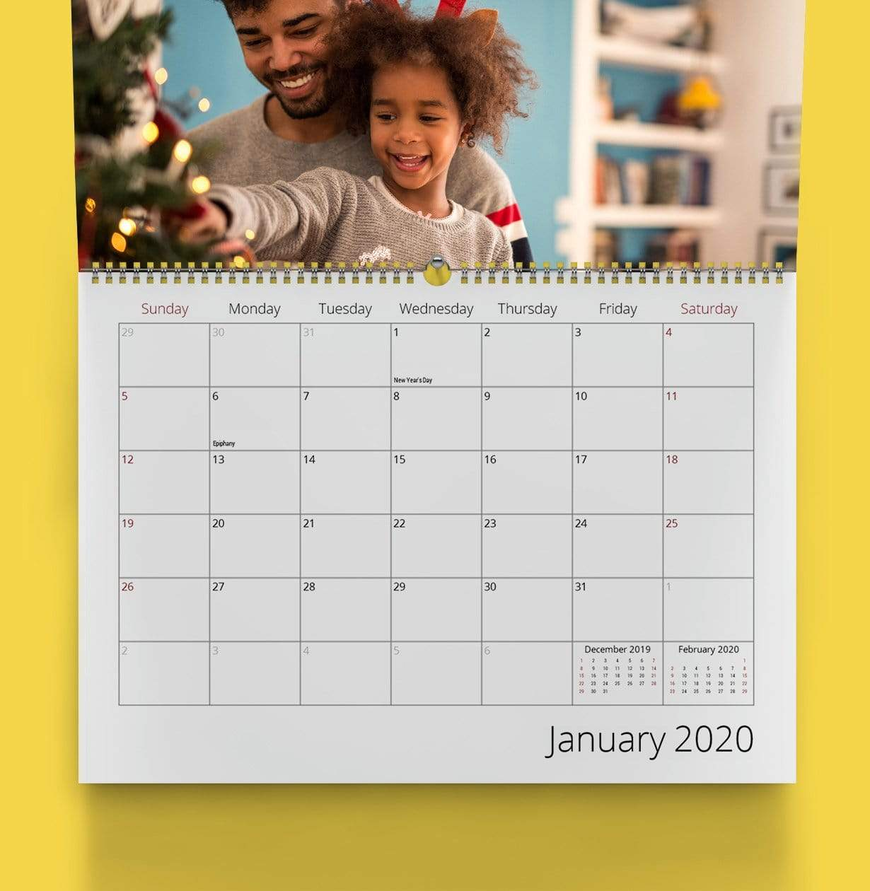 Wall-Mounted Photo Calendar - Photo Gift Ideas Under $25