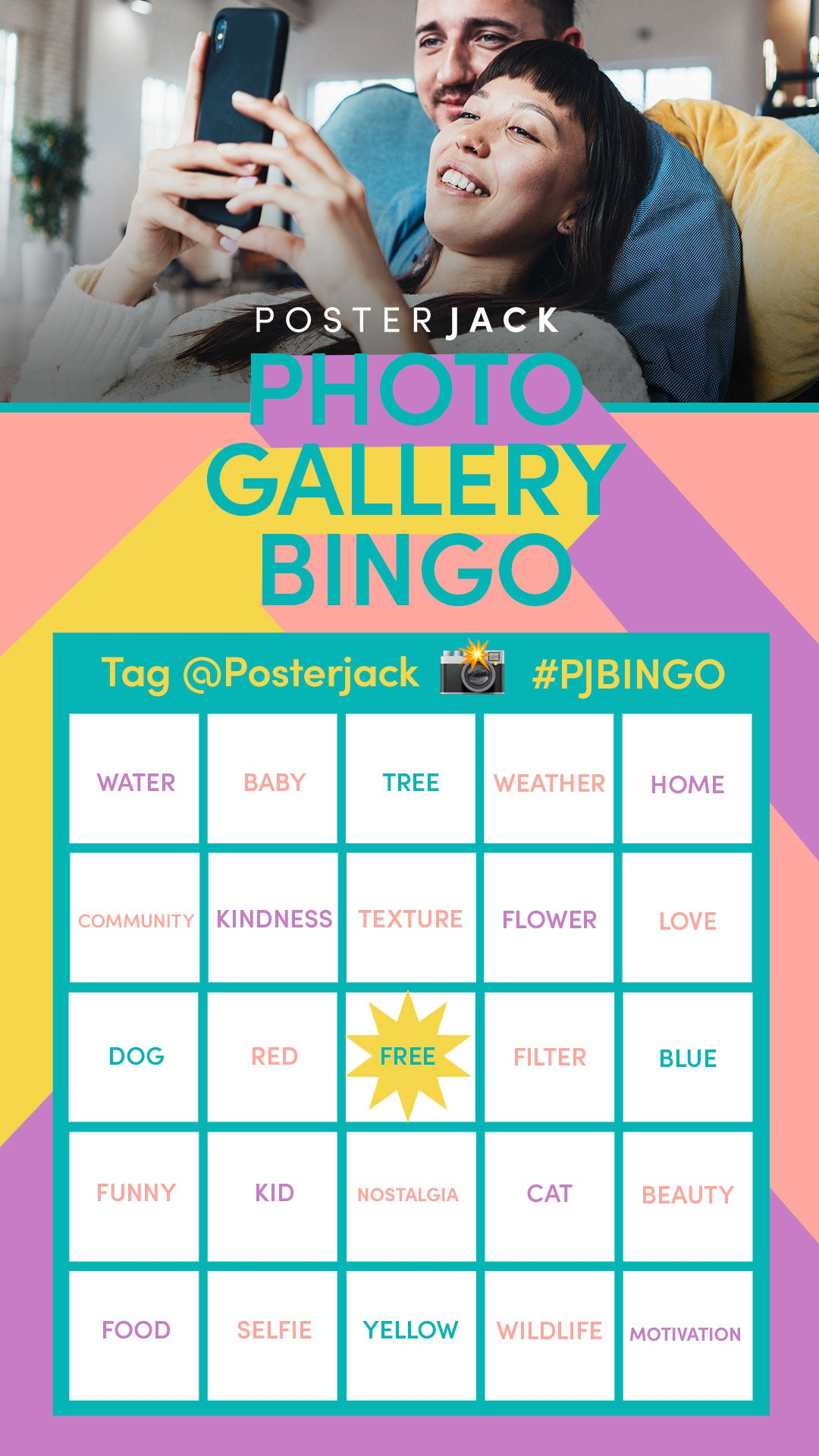 Photo Gallery Bingo Challenge by Posterjack Canada