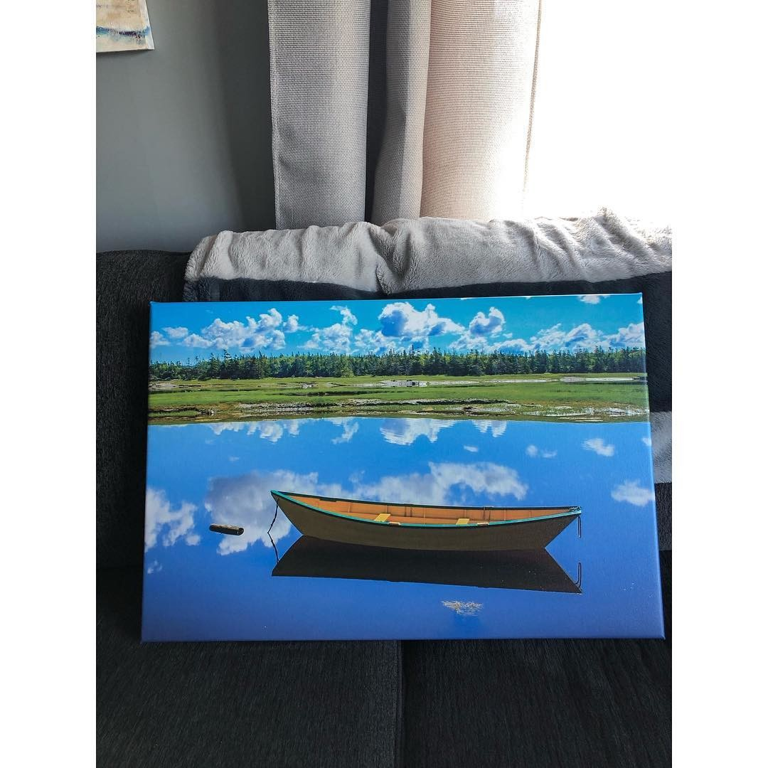 Photo of Boat on Water in Nova Scotia, Canada PRinted on Canvas