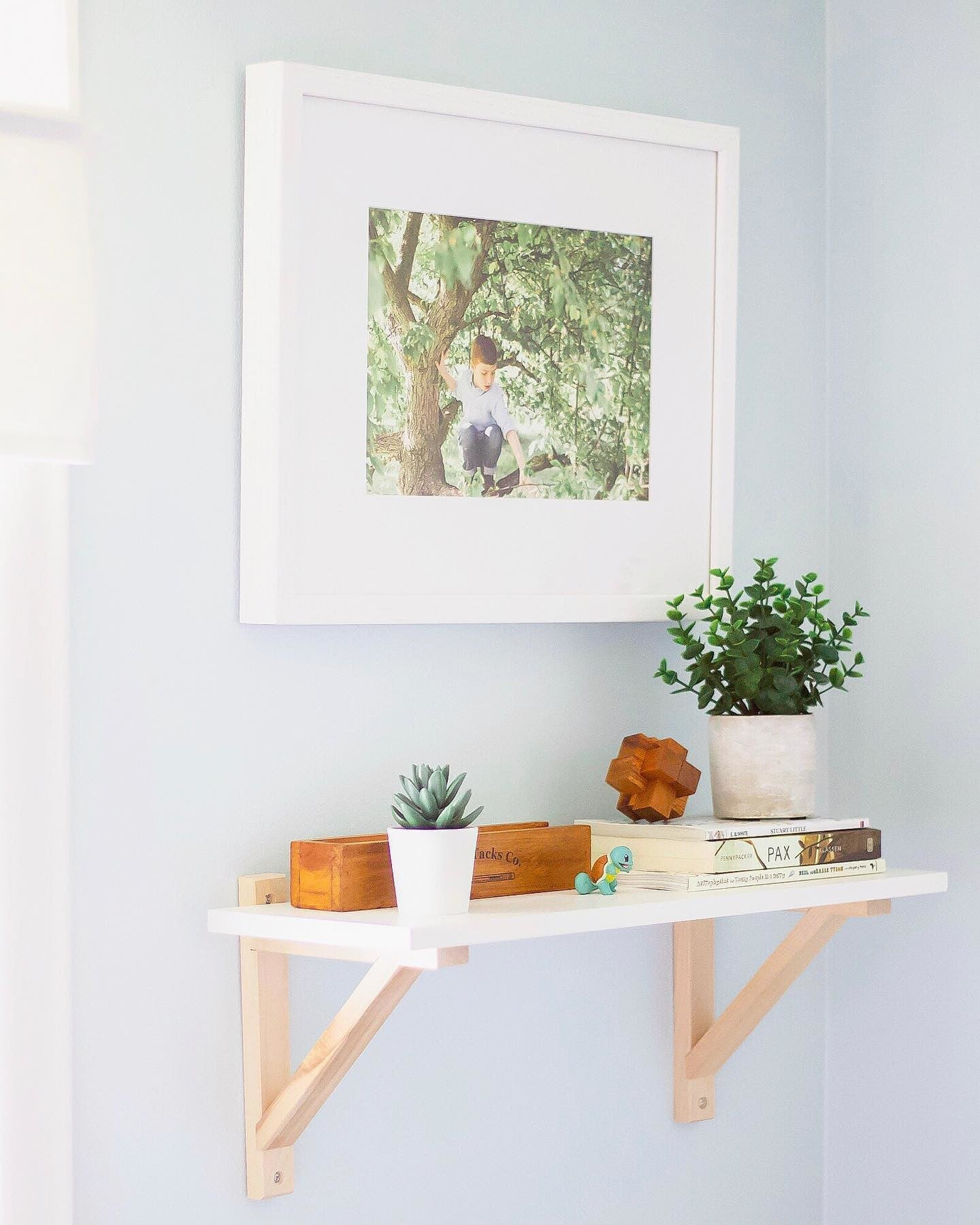 Photo Print on Display in a White Frame