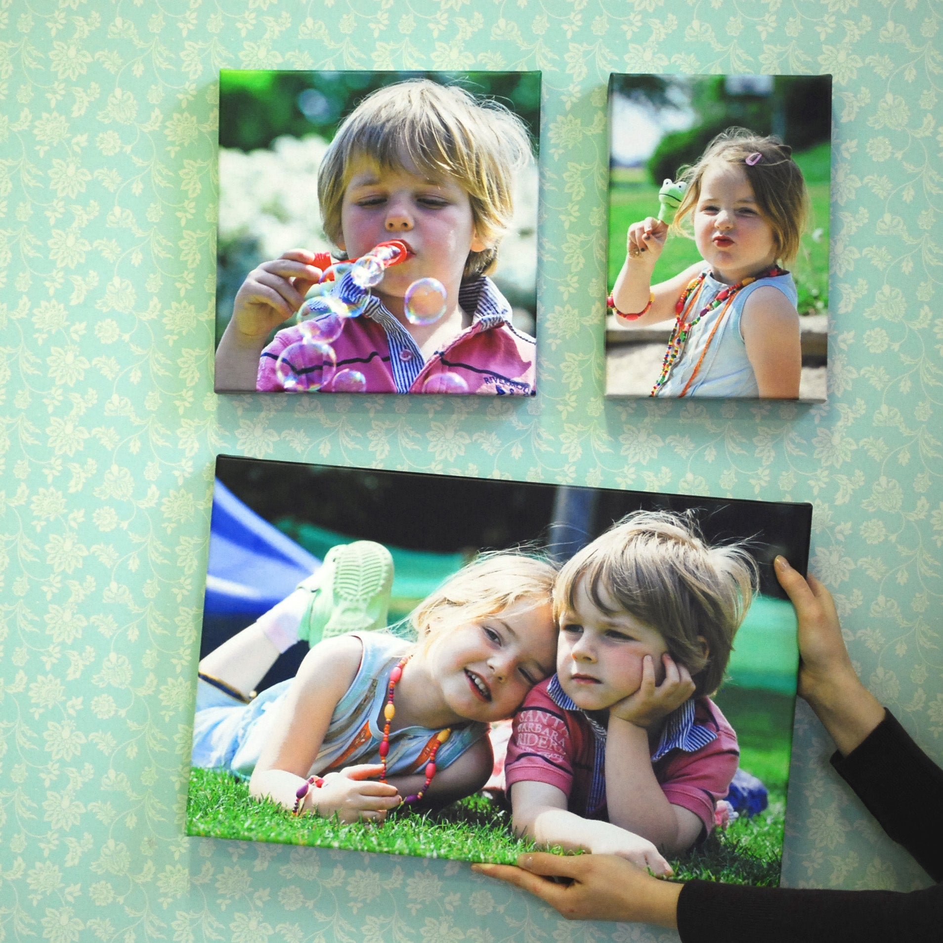 Canvas Print Gallery Wall of Photos of Siblings