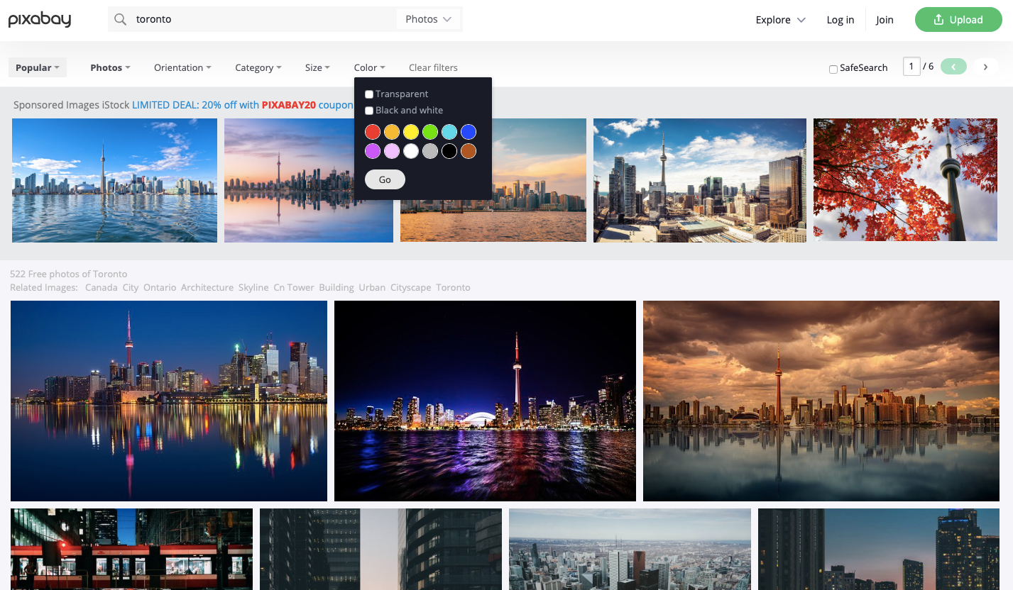 Searching for Free Printable Images on Pixabay