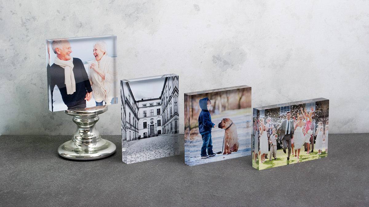Posterjack Acrylic Blocks - Desk Decor Photo Art
