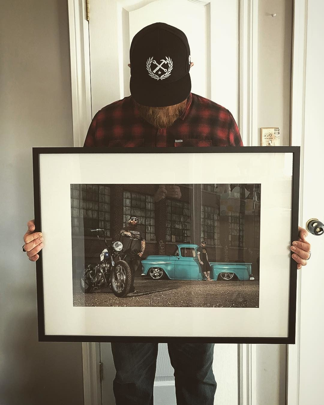 Posterjack Framed Print - Photo with Customer