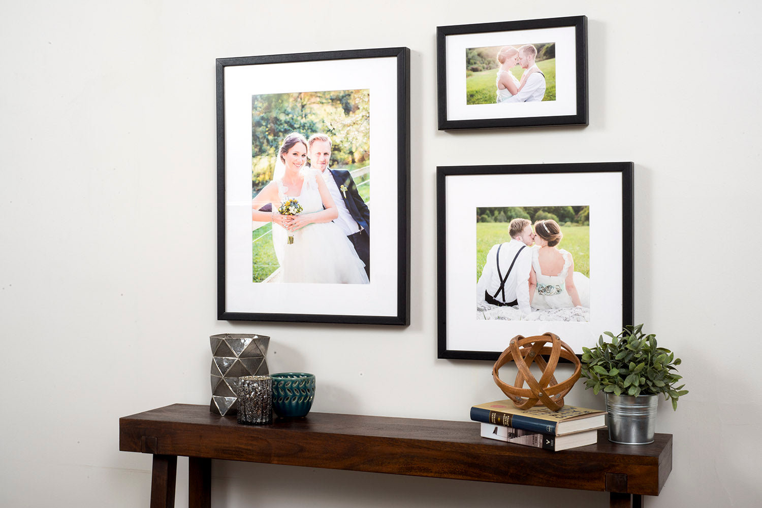 Gallery Frames with Wedding Photos - Custom Framed Prints by Posterjack Canada