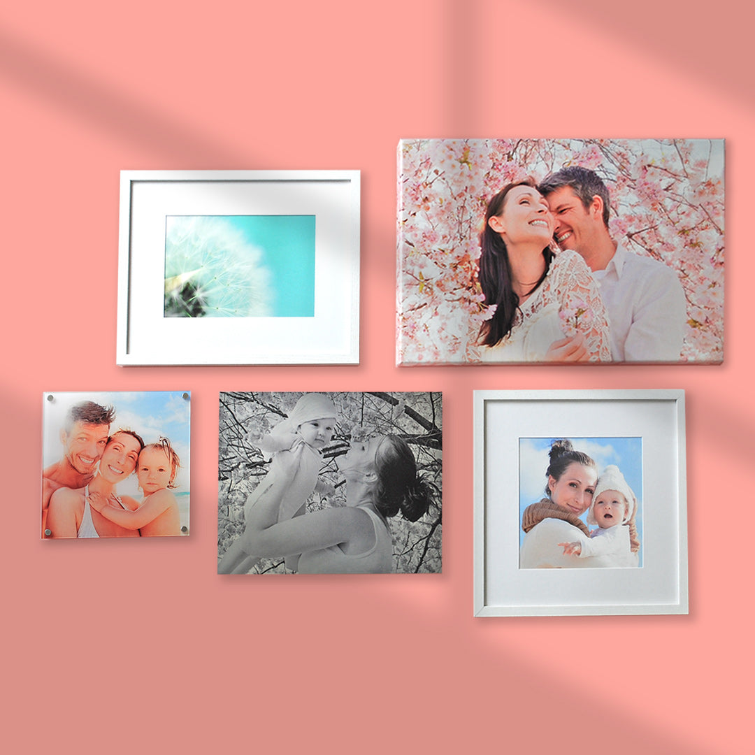 A Gallery Wall of Family Photos Printed by Posterjack