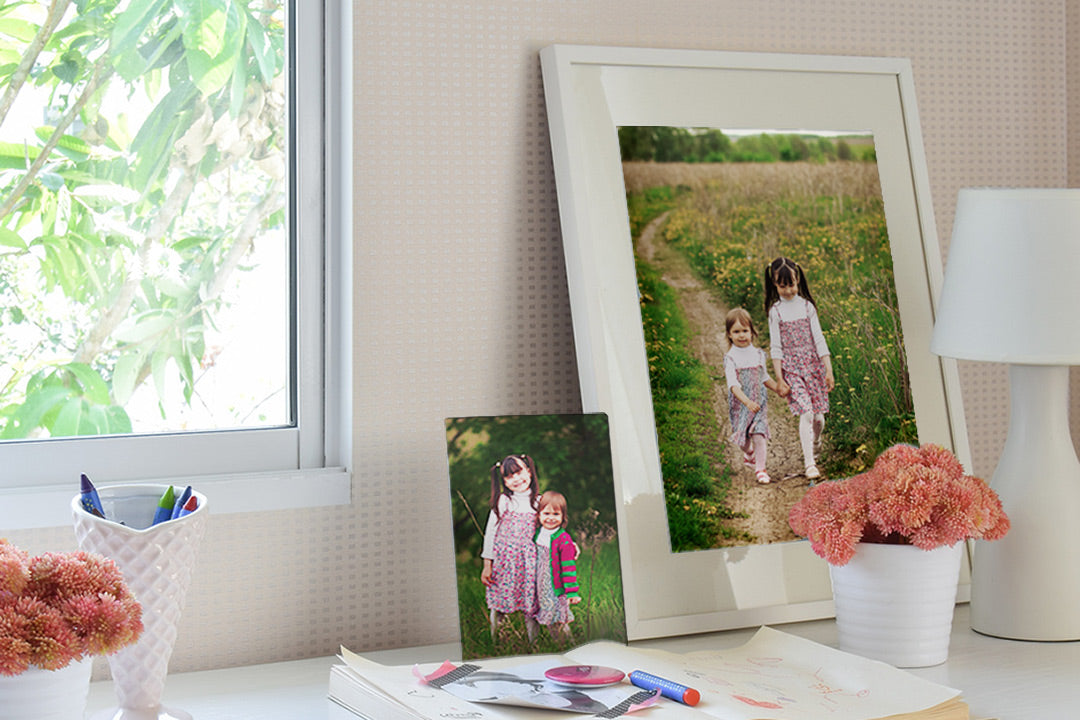 Photos of Kids in a Framed Print and Metal Mini