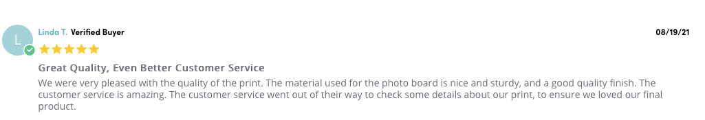 Posterjack Canada Customer Review of Photoboards