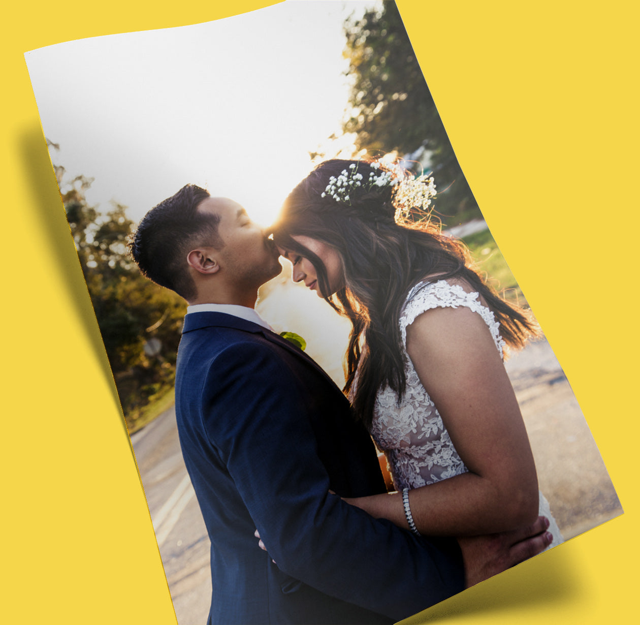 Wedding Photo Printed on a Posterjack Poster Print