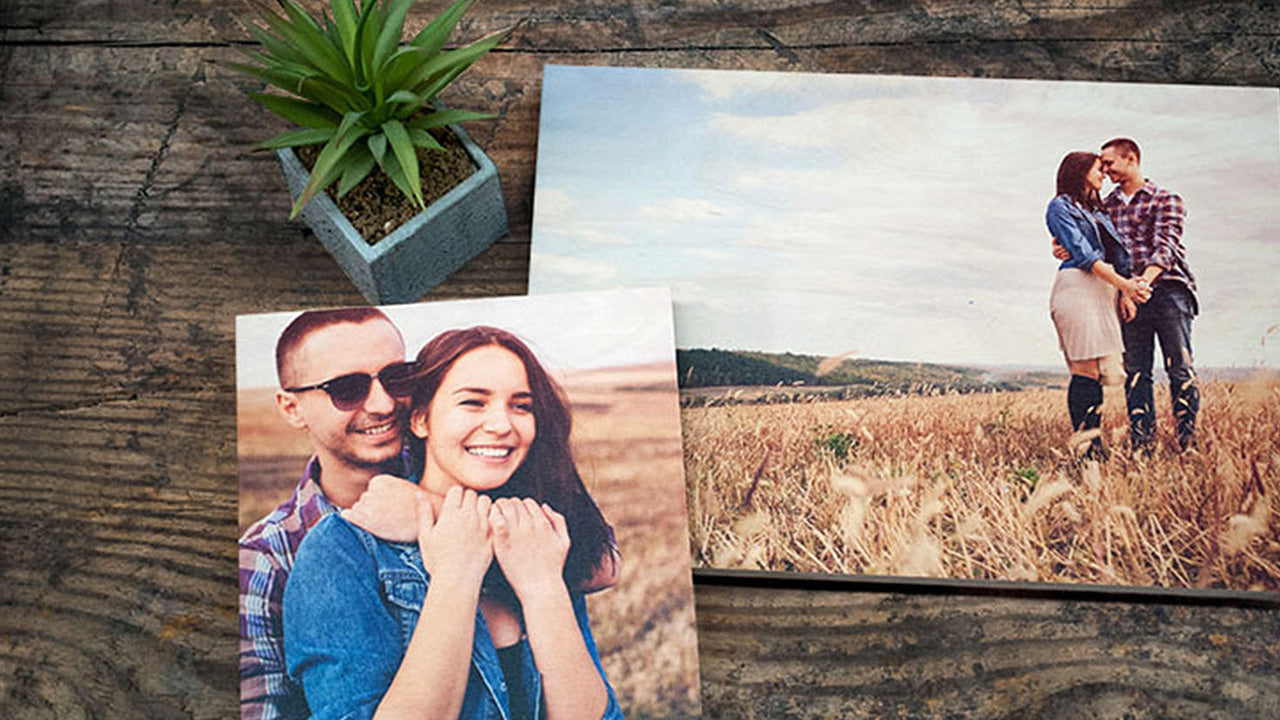 Photo of Couple Printed on Wood by Posterjack Canada