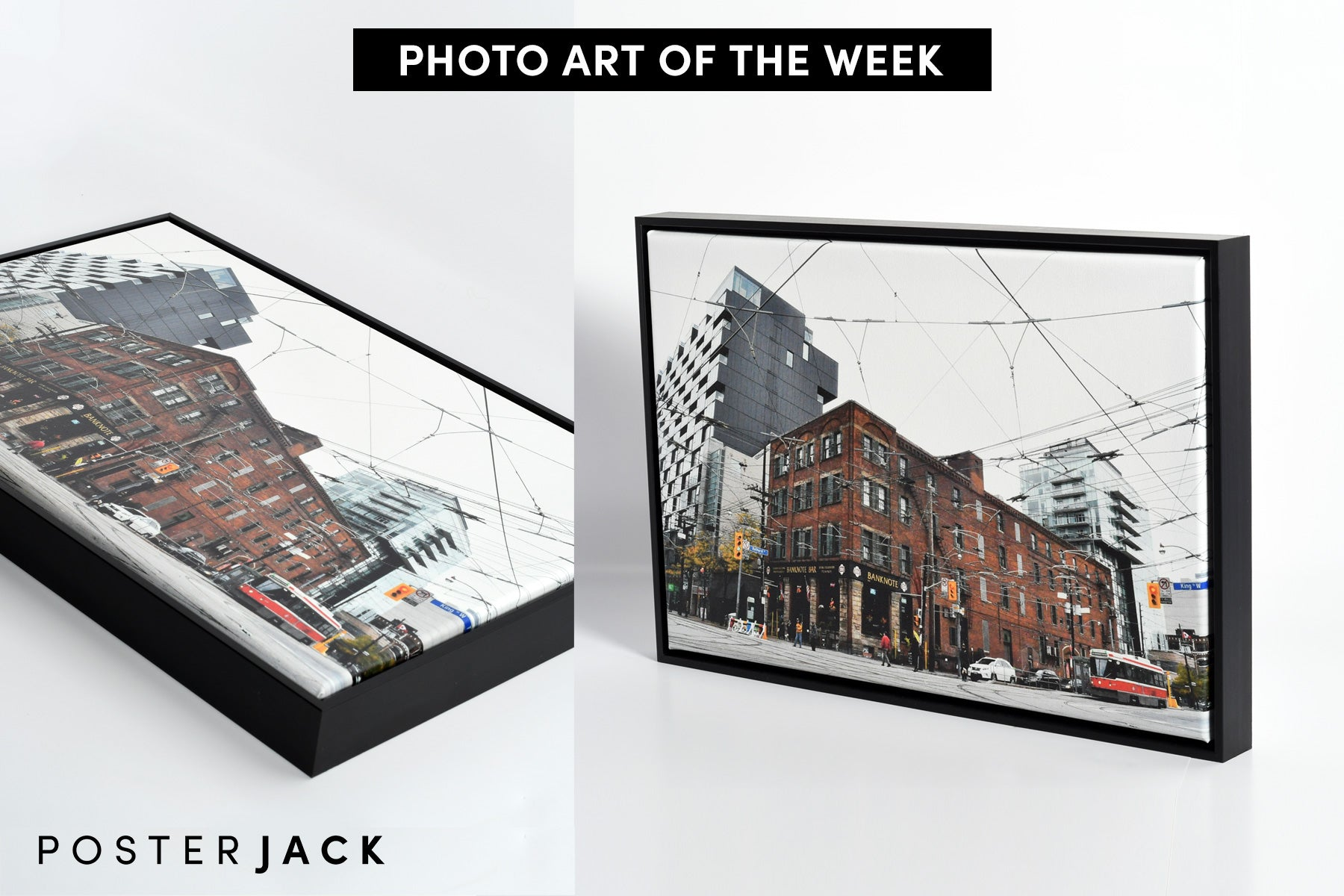 Toronto Street Photography Printed on Canvas by Posterjack Canada