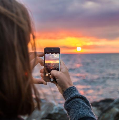Capturing a Sunset Beach Photo with an iPhone
