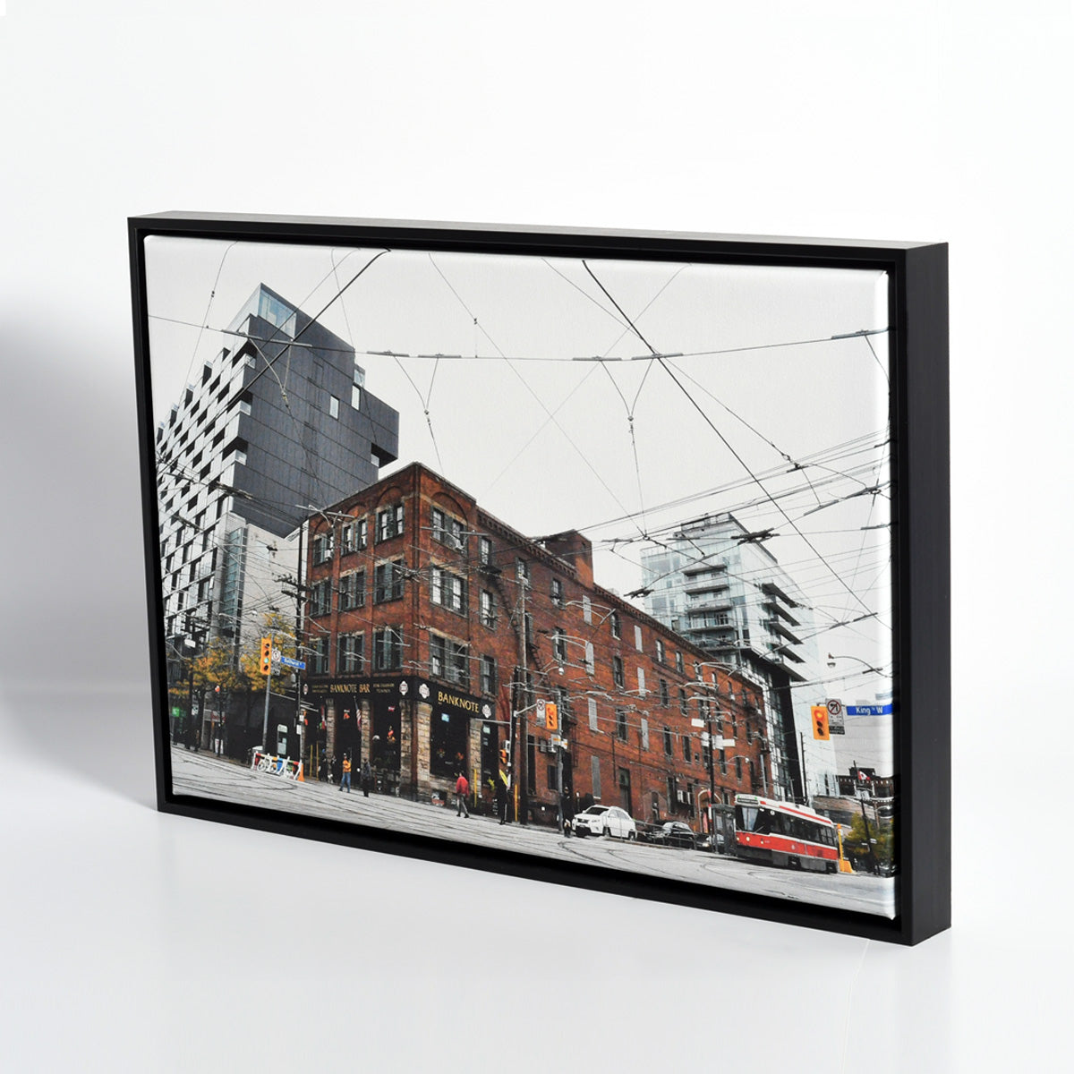 Toronto Street Photography Printed on Canvas and Framed by Posterjack Canada