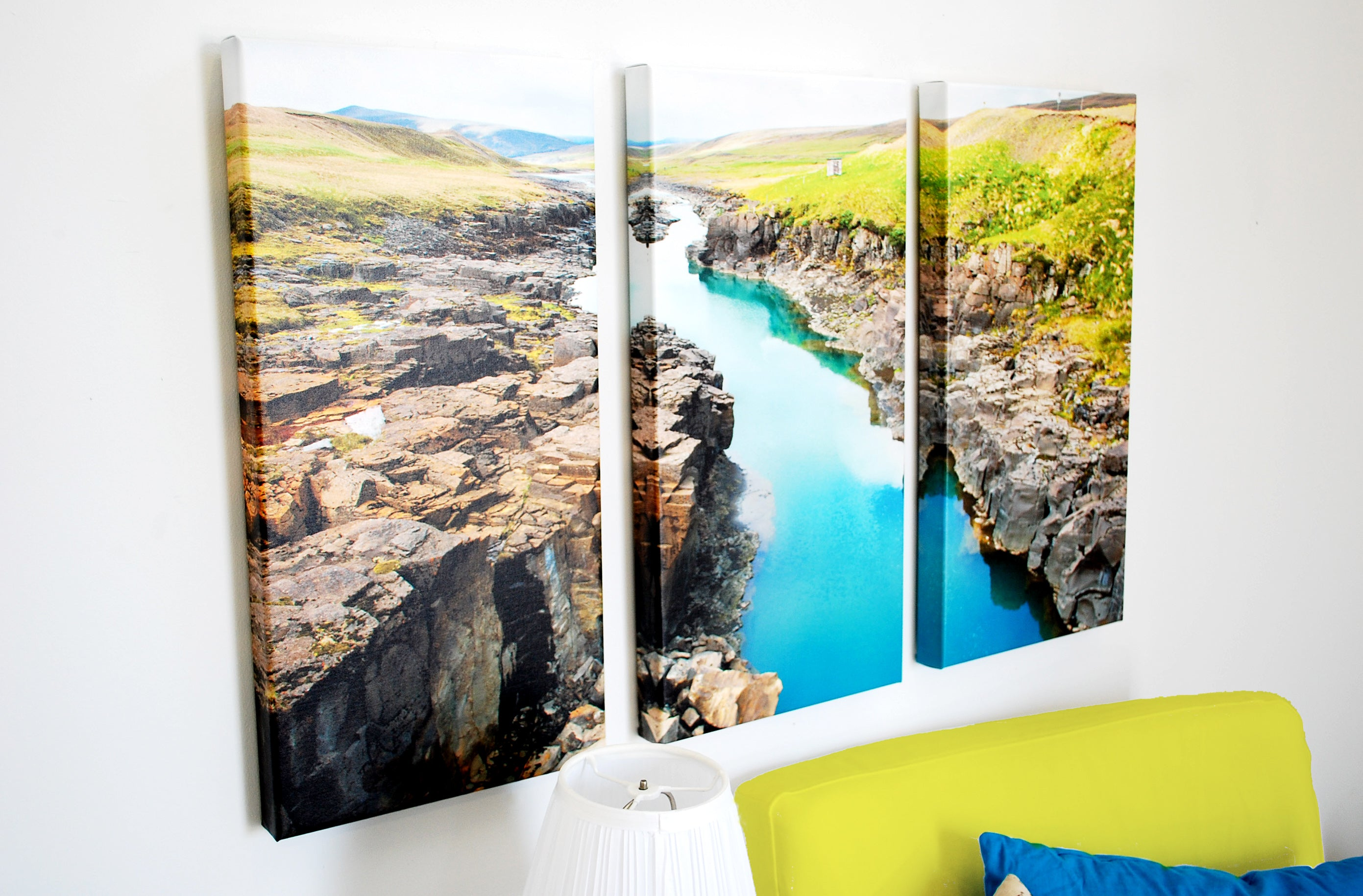 Landscape photo printed on a Posterjack Three-Panel Triptych Canvas Print
