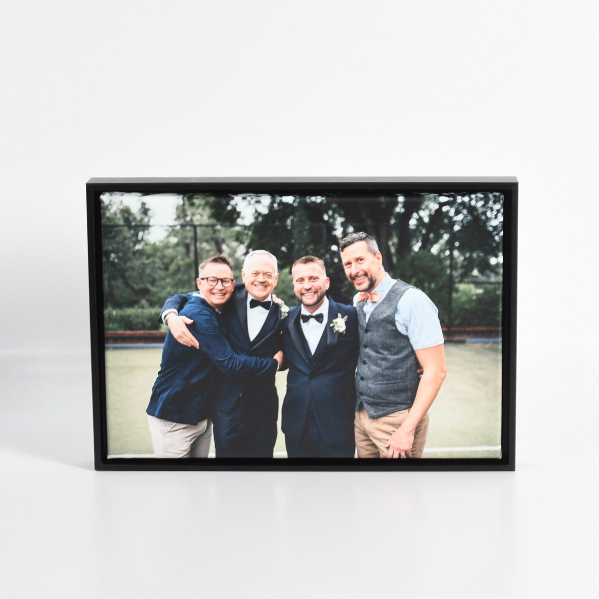 Wedding Photo Printed on Canvas with Custom Floater Frame