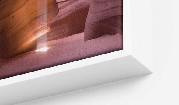 White Float Frame with Canvas Print