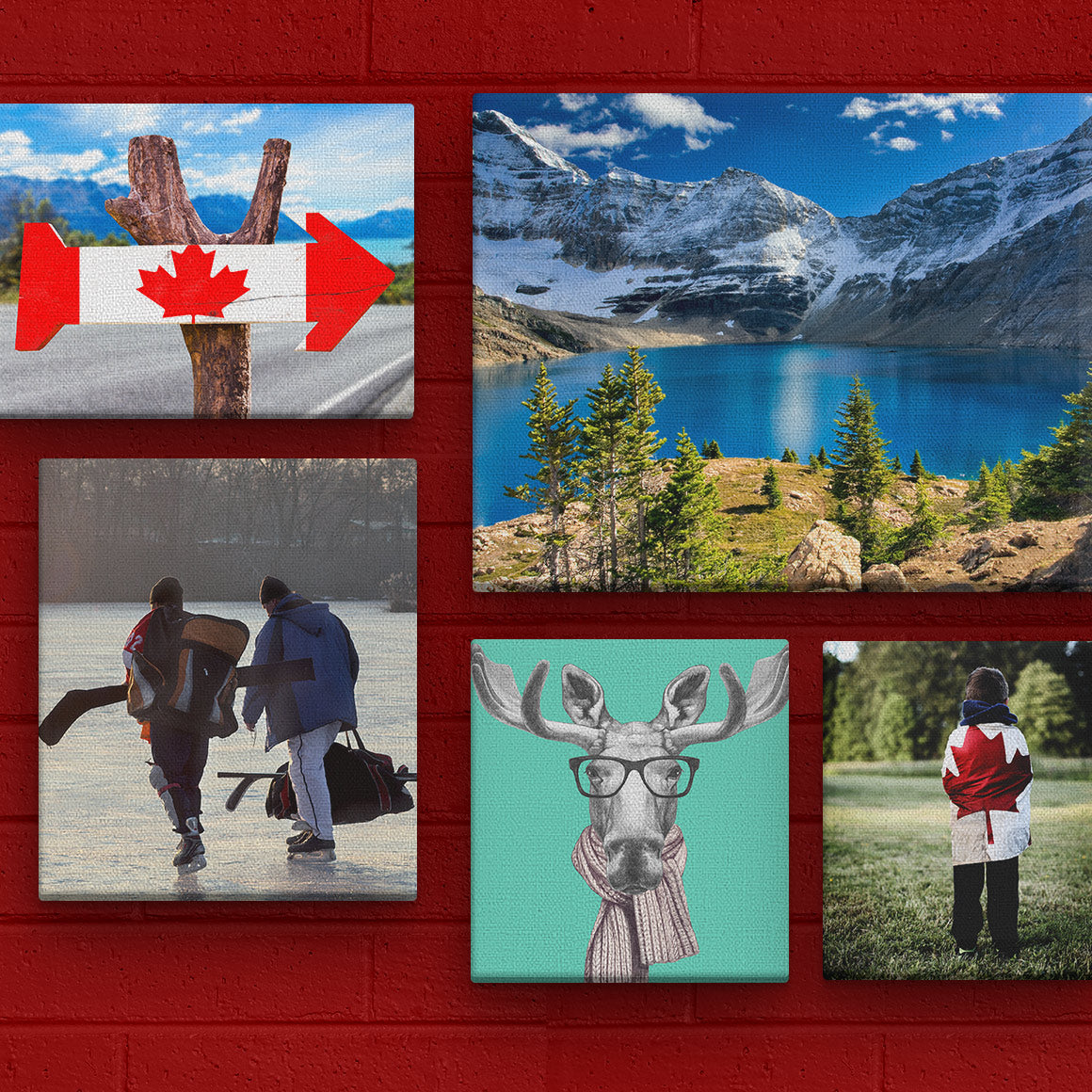Posterjack Canada Canvas Prints on Display