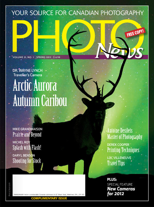 Cover of PHOTONews a free Canadian Photography Magazine