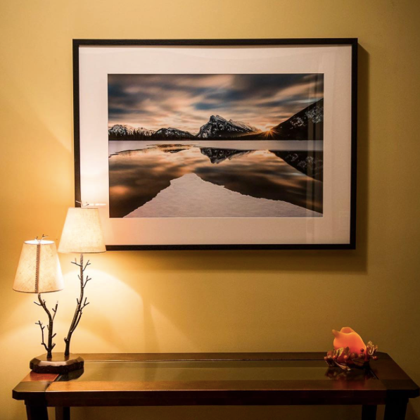 Interior decorating with a large Posterjack Framed Print