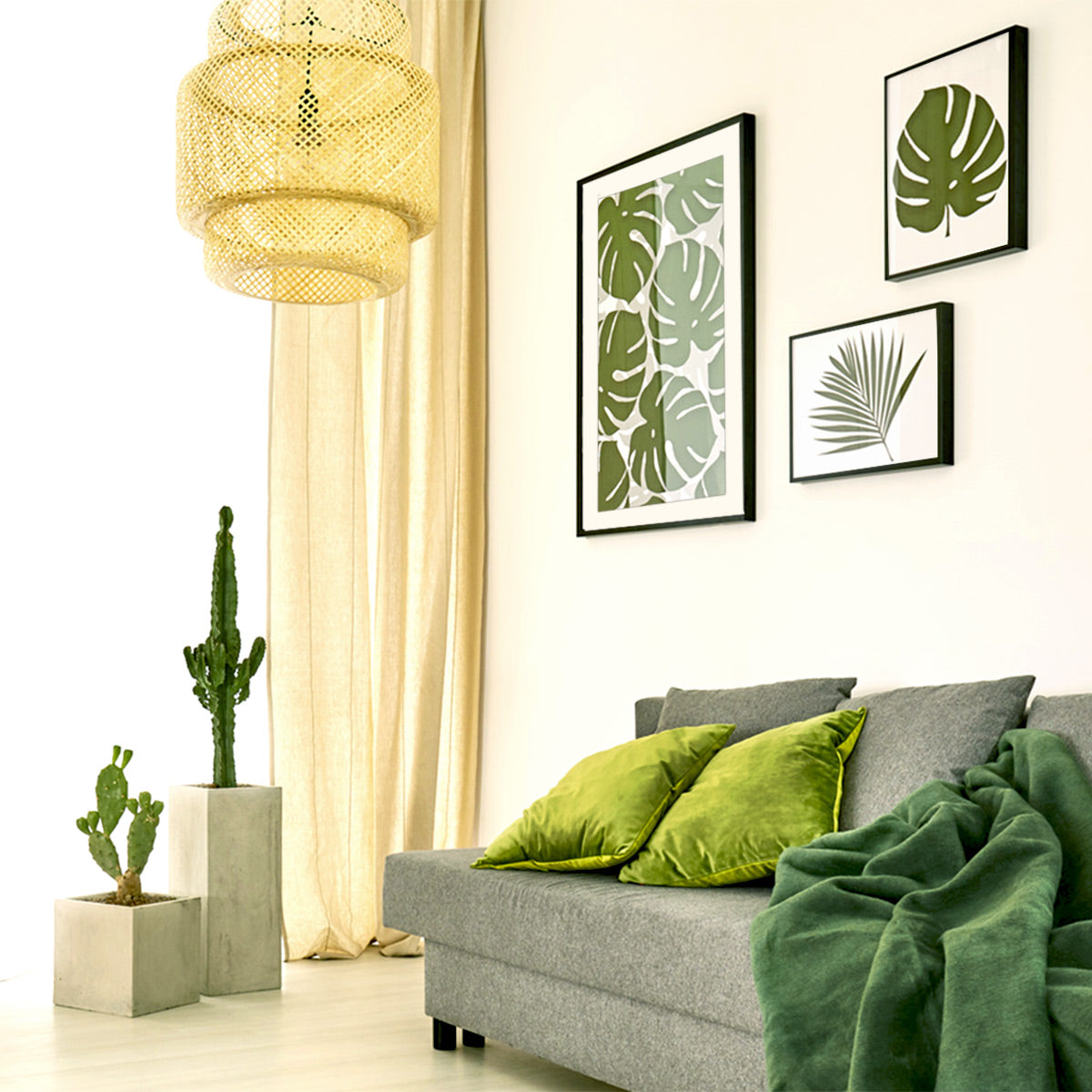 Decorating with greenery and Posterjack photo art prints - interior design tips