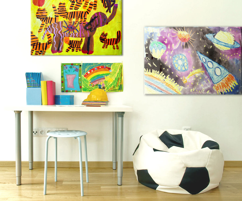 Posterjack Canvas Prints Displaying a Child's Artwork
