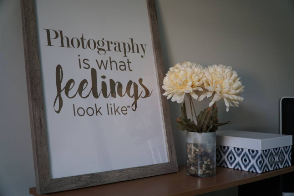 Winter decorating with inspirational quotes and Posterjack prints