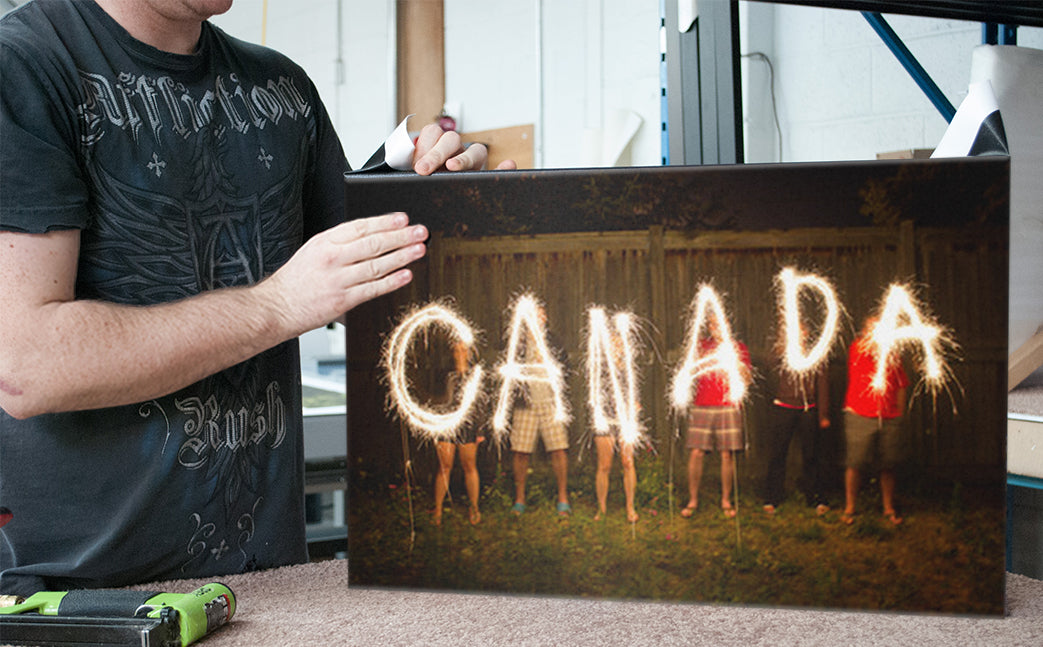 Canada Photo Printed on Canvas - Toronto Behind-The-Scenes Shot by Posterjack